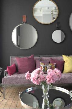 decor, wall colors, grey walls, mirror mirror, living rooms