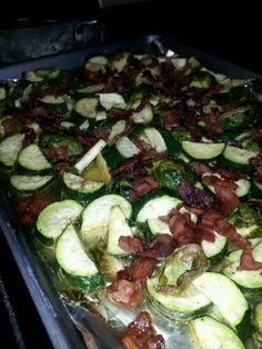 Paleo Bacon Roasted Veggies