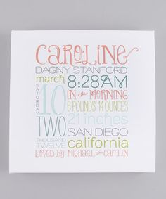 typography for baby announcements