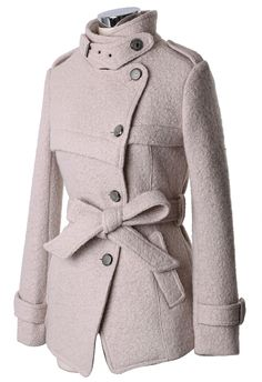 Military Style Belted Trench