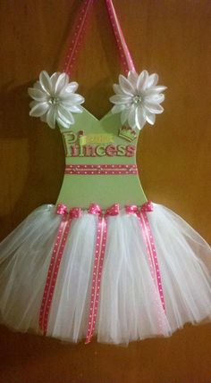 Little Princess Tutu Hairbow Holder by TulleTastiCreations on Etsy, $25.00