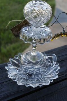 glass birdfeed, glasses, garden art, bird feeders, wine glass