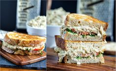 """jackfruit """"tuna"""" melt sandwich. sandwich vegan, melt sandwich"""