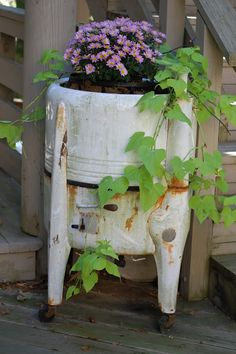 Old Washing Machine flower container