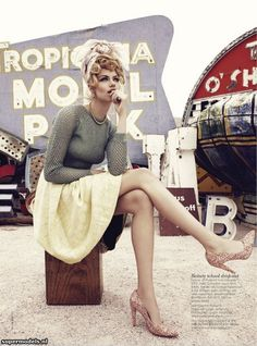 Hailey Clauson in 'Viva, Las Vegas'  Photographed by Nicole Bentley  Vogue Australia March 2012