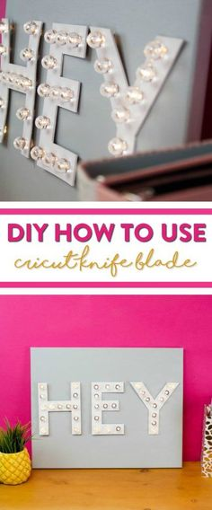 Today we're going to share with you how to create your very own Marquee Letters using your Cricut Knife Blade. It's super easy to do and perfect to make even if it's your first time to use your knife blade on a DIY project. #cricut #diecutting #cricutmade #cricutmaker #cricutprojects