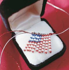 Memorial Day craft: make your own beaded flag necklace