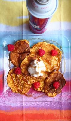 Pumpkin Protein Pancakes (4 ingredients)