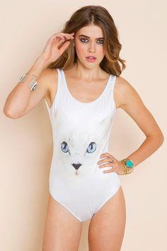 White Cat Swimsuit