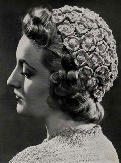 vintage crochet flower hat