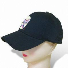 6 Panels Baseball Cap with Embroidery, Available in Various Colors, Made of Cotton Twill