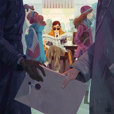 By Maike Plenzke. I like the composition a lot. #illustration