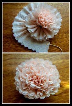 Make crepe flowers