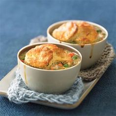 Biscuit-topped Chicken Potpies | MyRecipes.com