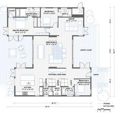 Blu Homes Breezehouse floorplan 3 bedroom with library