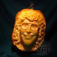 Remarkably Detailed Carved Pumpkin Rind Sculptures by Scott Cummins