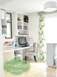 Gorgeous DIY craft room