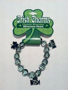 Irish Charms Charm Bracelet - Shamrock and Irish Charms  Regularly $9.95 Special Price : $3.95 http://www.biddymurphy.com/Irish-Charms-Charm-Bracelet-Shamrock/dp/B00631OTMK