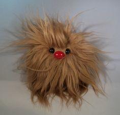 Furry Monster Plush - 4 Light Brown Coodle. $10.00, via Etsy.
