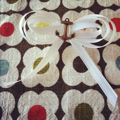 our wedding anchor boutonnieres. #diy