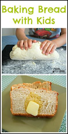 Easy Bread Recipe ~~ Make honey bread with kids. Simple and delicious.