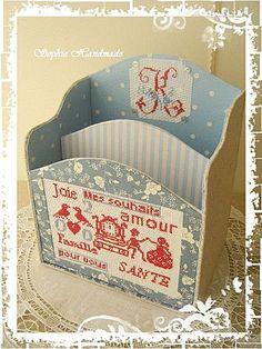 Cartonnage: Mes Souhaits porte-courrier de bureau en bleu / tissu boîte:?? Je souhaite lettre bleue inséré - Bonjour Of Ca va La vie est belle - Yahoo! Kimo Blog