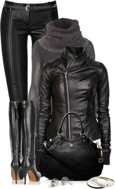 """For the Love of Leather"" by johnna-cameron ❤ liked on Polyvore"