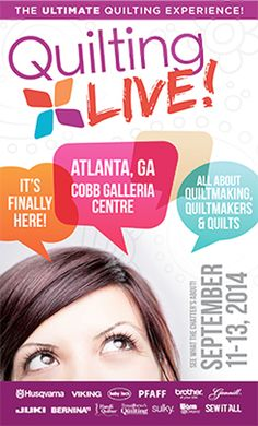 Please join QM editors and many quilting celebrities at Quilting LIVE! Sept. 11–13 in Atlanta. Sew much fun! http://sewingexpo.com/QuiltingLIVE.aspx