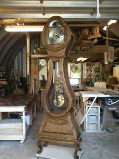 Beautiful customer photo by Robert B. He constructed our Mora clock in near-record time!