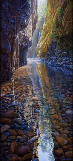 Oneonta Creek/Gorge in the Columbia River Gorge National Scenic Area east of Portland, Oregon • artist:  April Waters