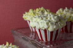 Popcorn cupcakes with edible colored chocolate cupcake liners