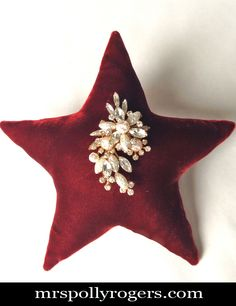 Click here to DIY your own Velvet Star ornament.  Blog instructions, and Video.  From MrsPollyRogers.com