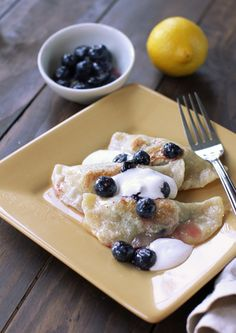 Blueberry lemon perogies