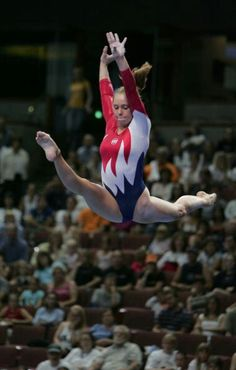 Hollie Vise on beam at the 2004 US Olympic Team Trials