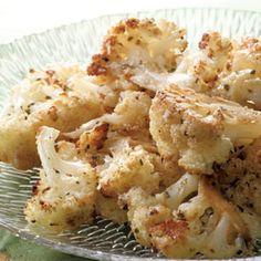balsamic and parmesan roasted cauliflower-Yum!
