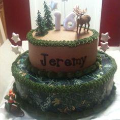 birthday parties, boy cakes, camo hunting birthday party, deer hunting, groom cake, camo party, camo birthday, parti idea, birthday cakes