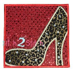 High Heel Shoe Box Applique Design For Machine by TheItch2Stitch, $4.00