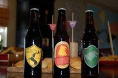 Game of Thrones beer labels designed by my husband :)