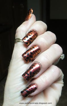 Sally Hansen Nail Prism Amber Ruby Polish Sickness: Blizzard in April? Why the hell not!