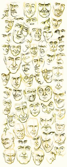 Men's Faces by JoniGodoy.deviantart.com on @deviantART
