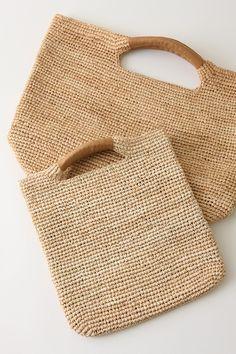 fantástica bolsa de ganchillo con asas