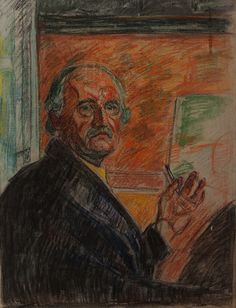 "Edvard Munch, ""Self Portrait"", Pastel"