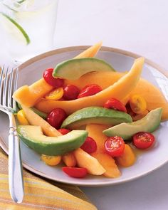 Cantaloupe and Avocado Salad with Honey-Lime Dressing Recipe