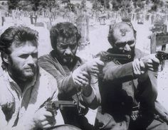 Clint Eastwood, Eli Wallach and Lee Van Cleef -- The Good, the Bad and the Ugly.