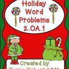 24 holiday word problems support CCSS 2.OA.1