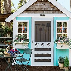 Beach Inspired Garden Shed!