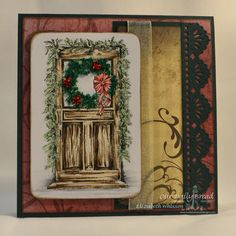 Stamps - Our Daily Bread Designs Christmas Door, ODBD Christmas Paper Collection 2013, ODBD Custom Beautiful Borders Dies