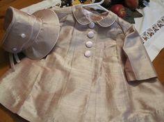 vintage baby coat babi coat, spring dupioni, children cloth, 12 mo, bonnet, dupioni coat, perfect coat, coats, kid