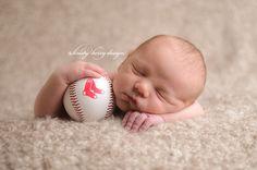 Red Sox newborn photo. newborn photography