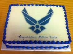 Going away party ideas on pinterest air force going for Air force cakes decoration